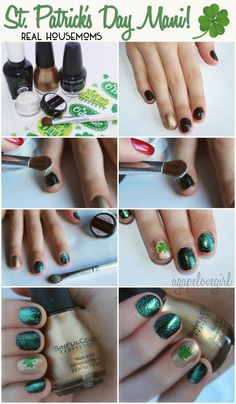Simple Sophisticated St. Patrick's Day Mani | Real Housemoms @gridley0484