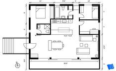 How to read floor plans - floor plan of our case study house. Click through to www.houseplanshelper.com for more on how to read floor plans, house plans and for more on home design. Bathroom Layout, Kitchen Layout, Blueprint Symbols, Floor Plan Symbols, Free Floor Plans, Space Words, Comfy Sofa, Building A New Home, Internal Doors
