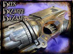 Steampunk Nerf Gun Pistol Maverick   Cosplay by BeesBizarreBazaar, £35.00