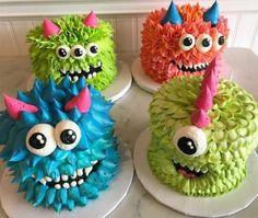 66 Ideas Birthday Cake Boys Monster For 2019 - cake for boys Monster Birthday Cakes, Monster First Birthday, Monster 1st Birthdays, Monster Birthday Parties, First Birthday Cakes, Monster Party, 1st Boy Birthday, Monster Cakes, Birthday Ideas