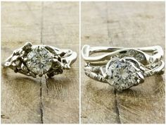 Ethical diamonds, organic recycled white gold, and beautiful, natural looking settings. What's not to love?