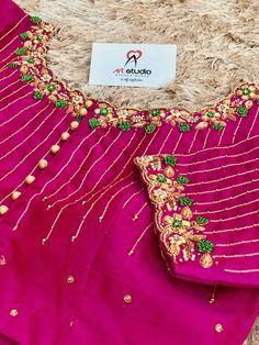 Hand Work Blouse Design, Simple Blouse Designs, Stylish Blouse Design, Fancy Blouse Designs, Bridal Blouse Designs, Maggam Work Designs, Designer Blouse Patterns, Blouse Neck, Saree Blouse