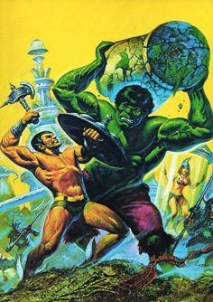 Hulk & Namor by Ken Barr