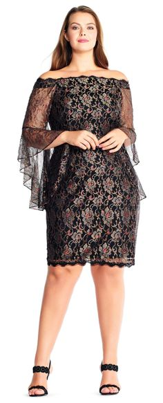42 Plus Size Party Dresses {with Sleeves} - Plus Size Cocktail Holiday Party Dresses - Plus Size Fashion for Women - alexawebb.com #alexawebb #plussize #partydress #plussizepartyoutfit