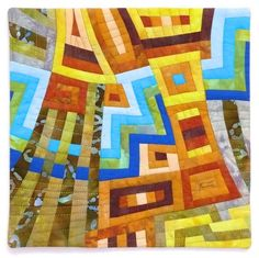"""""""A Rivulet Runs Through It - Deconstructed Log Cabin #2""""  by Ruan Robertson"""