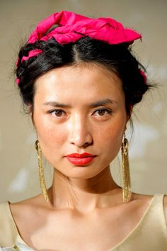 Frida Kahlo Braid Style Trend for Spring Summer 2013.  Nonoo Spring Summer 2013