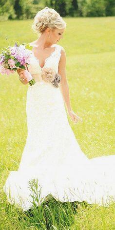 rustic style wedding dresses 3