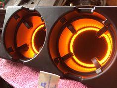 E46 cup holder amber light