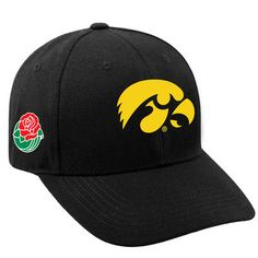 newest a31d3 86ffb Iowa Hawkeyes Top of the World 2016 Rose Bowl Bound Adjustable Hat - Black