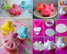 """Comment faire des cupcakes """"Ballerine"""" • Mes échantillons Gratuits"""