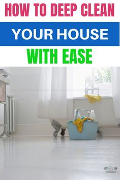 Wondering how to deep clean your house? These simple tips will make all those germs go away! Not too mention, cleaning will help you declutter as well! Don't feel overwhelmed by the thought of spring cleaning! Instead, put it into an easy cleaning checklist so you can tackle areas of your home one by one! These easy tips will have you not dreading cleaning your home any longer and having you gear up to tackle the rest of the house. #cleaning #DIY #springcleaning #cleaningchecklist #deepclean via Household Cleaning Tips, Deep Cleaning Tips, Cleaning Checklist, House Cleaning Tips, Spring Cleaning, Cleaning Hacks, Cleaning Routines, Daily Routines, Cleaning Crew