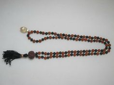 Amazon.com: Rudraksha Black Agate Meditation Mala Protection Energy Mala Shani Mala: Tarini Jewels: Jewelry