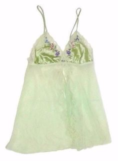 ab9dfce1ef ... HONEYDEW Plum Purple embroidered sexy lacy. Secret Treasures Nighty  Sexy Lingerie Sheer Baby Doll S Green Floral Nightgown