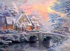 thomas kinkaid christmas cottage | Thomas Kinkade Winter