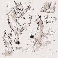 Shan Mao by multyashka-sweet.deviantart.com on @DeviantArt #cat #lynx #sketch sketches
