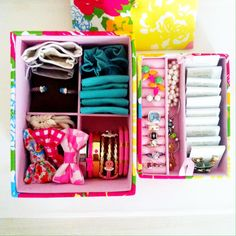 @Lilly Pulitzer jewelry box filled with my favorite things.