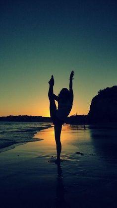 Gymnastics at the beach