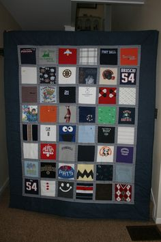 large baby clothes quilt (48 items). -want to make this for Gabriel for his big boy bed.