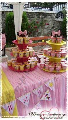 ΣΤΟΛΙΣΜΟΣ ΒΑΠΤΙΣΗΣ - MINNIE MOUSE - ΚΩΔ:MINNIE-1139 Minnie Mouse, Birthday Cake, Table Decorations, Desserts, Food, Home Decor, Tailgate Desserts, Deserts, Decoration Home