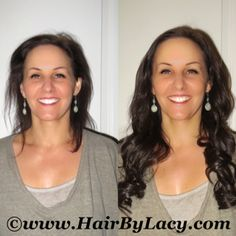 Elite Hair Extensions Oxford, Michigan. #hairextensions #beforeandafter #longhair