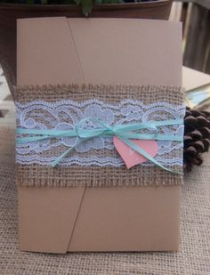 Burlap and lace!!! Woo!!