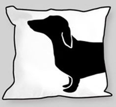 adorable 2 sided pillow from Naked Decor-- the reverse side is the back end-o-doggy so you need two = 100 bones