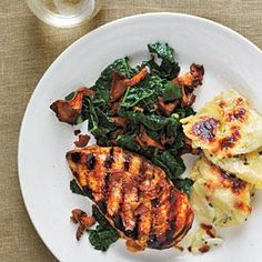 Chicken with Smoked Chanterelles and Potatoes Recipe | MyRecipes.com