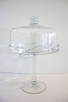 Cake Stand Compote Glass with Lid