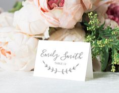 Editable Wedding Place Cards Template, Printable Place Cards, Wedding Name Cards, Wedding Seating Cards PDF Instant Download by WeddedAccents on Etsy https://www.etsy.com/listing/527798750/editable-wedding-place-cards-template