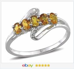 50% off #ebay http://stores.ebay.com/JEWELRY-AND-GIFTS-BY-ALICE-AND-ANN  Genuine Yellow Sapphire ring 1.20 ctw size 5 VALENTINES DAY