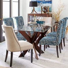 Glass Dining Room Table, Dining Table Design, Dining Room Furniture, Dining Chairs, Dining Sets, Coaster Furniture, Plywood Furniture, Lounge Chairs, Round Glass Table Top