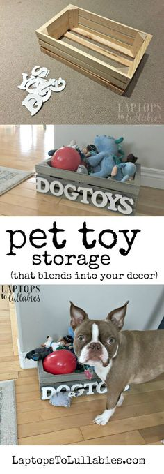 Laptops To Lullabies: DIY Pet Toy Storage