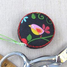 Retractable tape measure covered with whimsical  by ChosenSisters, $9.00