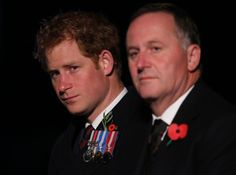 katemiddletons: Prince Harry and New Zealand Prime Minister John Key attended a ceremony to Queen Elizabeth, Duke of Edinburgh and their grandson the Duke of Edinburgh attended a ceremony to mark 100 years since the Gallipoli Campaign of World War I, Anzac Cove, Gallipoli, Turkey, April 25, 2015