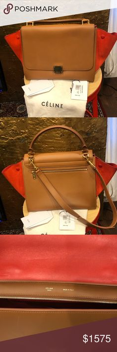 0a9ae116838c Celine trapeze bag Celine trapeze bag in beige and orange. Like new no  scratches or