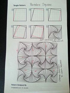 Paradox Square zentangle