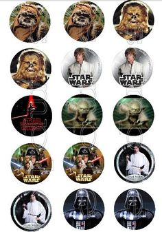 30 x Star Wars Edible Image Wafer Paper Cupcake Toppers (Pre Cut)