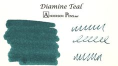 Diamine Teal Ink (80ml Bottle) Fountain Pen Ink