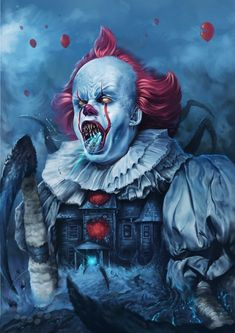 Art print The Derry Disease Pennywise IT Digital | Etsy Scary Movies, Horror Movies, Horror Cartoon, Badass Movie, Scary Wallpaper, Horror Decor, Pennywise The Dancing Clown, Horror Artwork, Fanart
