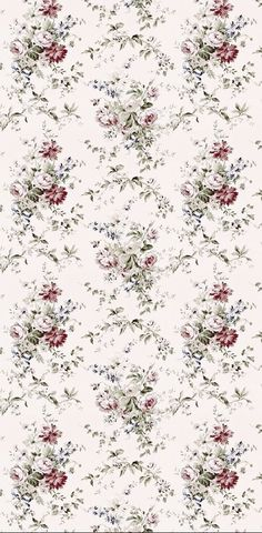 Paper Wallpaper, Wallpaper Backgrounds, Iphone Wallpaper, Vintage Paper, Vintage Flowers, Victorian Fabric, Doll House Wallpaper, Decoupage Paper, Pretty Wallpapers