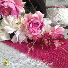 Pink Burlap Table Runners, Rustic Wedding Table Runner, Pink Wedding Decor, Burlap Baby Shower on Etsy, $8.00