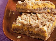 Treat your family with pumpkin bars made using Betty Crocker® SuperMoist® spice cake mix – a delicious fruit dessert.