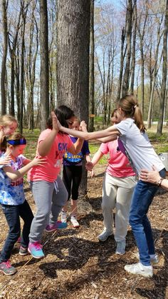 Low Ropes course at Camp Timberlane