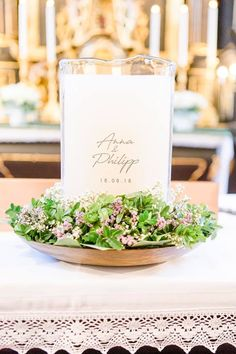 Our candles are engraved and refillable. For more details check our Homepage or write us Unity Candle, Candles, Table Decorations, Weddings, Check, Wedding Ideas, Floral, Gifts, Glass