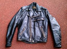 // 1960's Brook's Detroit Leather Motorcycle Jacket