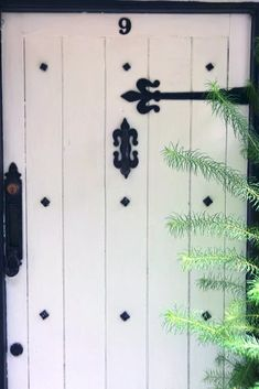 Cottage Doors Black and white front door Cottage Door, Spanish Revival, Door Furniture, Home Upgrades, Door Handles, Scene, Doors, Therapy, Day