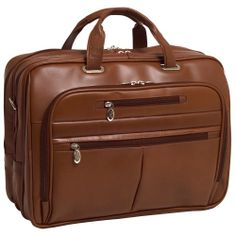 McKleinUSA ROCKFORD 86514 Brown Leather Fly-Through Checkpoint-Friendly 17 Laptop Case Secure, detachable patent pending Fly-Through Checkpoint-Friendly laptop sleeve design. Laptop sleeve padded with high-density foam fits most laptops 17? in screen size. Adjustable, non-slip, shock absorbing shoulder strap alleviates body strain. Front organizer with storage space for media devices, cell phone, ... #McKleinUSA #CE