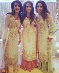 Items similar to Bridesmaid Dress- Embroidered Long Shirt with Net Skirt- Indian,Pakistani, Indo-Western Wedding Clothes on Etsy Pakistani Wedding Outfits, Pakistani Dresses, Indian Dresses, Indian Outfits, Punjabi Dress, Churidar, Anarkali, Salwar Kameez, Sharara