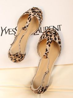 Gold fashion zar fashion horsehair leopard print t belt toe cap covering women s  shoes flat sandals  50.46 499cf89e4ab2