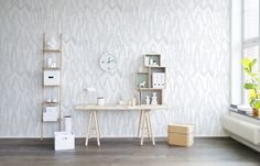 Hey, bekijk deze mural van Rebel Walls, Pulse of Passion, White! #rebelwalls #behang #mural